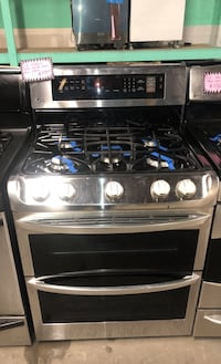 LG stainless steel double oven gas stove  Baltimore, 21223
