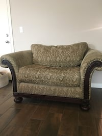 Taupe chair and a half good condition Clovis, 93619