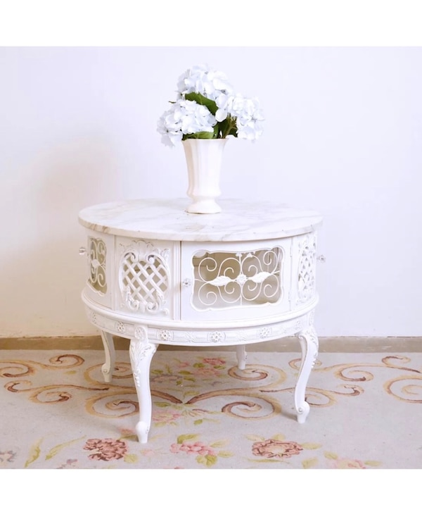 Vintage Shabby Chic Coffee Table White