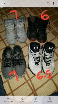 three pairs of Nike basketball shoes Brownsville, 78521