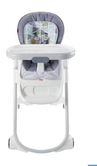 Baby's white and blue high chair Oakville, L6L 0C2