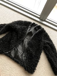 Women's black fur mini coat size small  Toronto, M6S 5B7