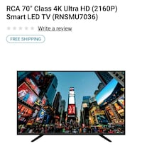 Brand new 70 in 4k smart tv RCA Metamora, 61548