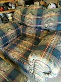 Great blue and brown plaid sofa chair Woodbridge, 22192