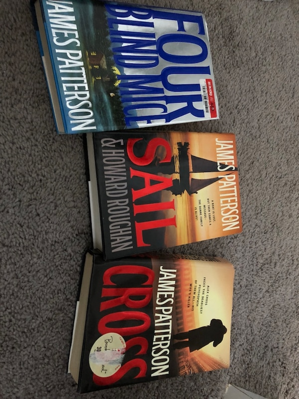 three assorted-title of James Patterson books