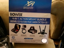 BowerXtreme Action Series 4-in-1 Action Mount Bundle for GoPro
