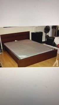 Deliver Full or Queen Brown thick Wood IKEA Frame Bed! Annandale, 22003