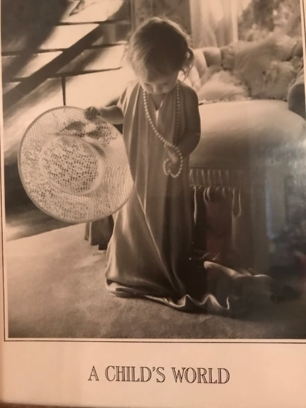 Adorable!!!!Matted Framed Picture of little girl playing dress up 96d49e8a-1b46-4ce1-b0f2-c61c4c55581b