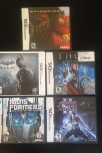 4 ds games and 1 3ds game