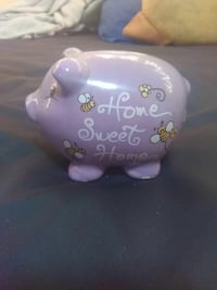 pink Home Sweet Home ceramic pig coin bank Troy, 12180