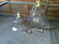 two clear glass pendant lamps New Lenox, 60451