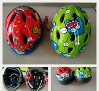 two toddler's assorted-color bicycle helmets collage Morris, 60450