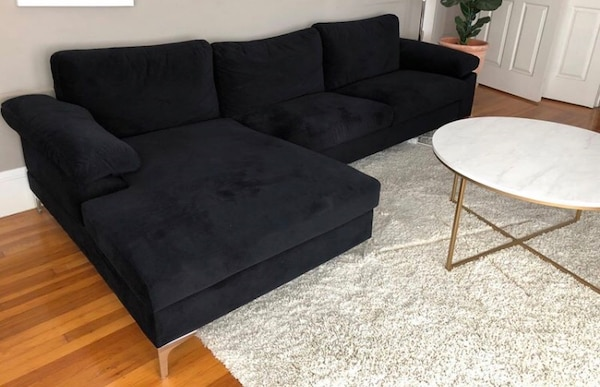 Black Modern Sectional Sofa