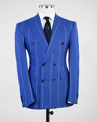 blue and black button-up jacket 41 km