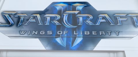 StarCraft plastic sign for gaming room