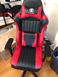 red and black leather gaming chair Vienna, 22182