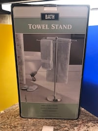Towel Stand Two Tier In Satin Nickel Moore, 73165