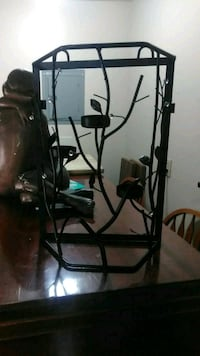 Black metal candle holder approximately 12 x12 Sioux Falls