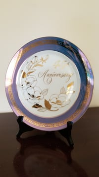 45th Wedding Anniversary Plate