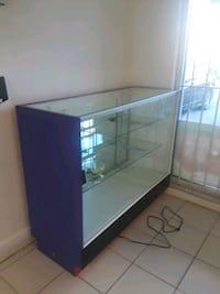 black wooden framed glass display cabinet Miami, 33196