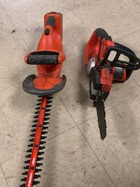 Black & Decker Trimmer and Chainsaw
