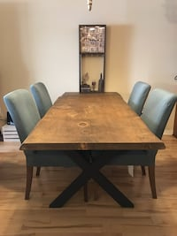 Authentic wooden table (handcrafted) MONTREAL