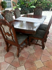 brown wooden table with chair Miami, 33126
