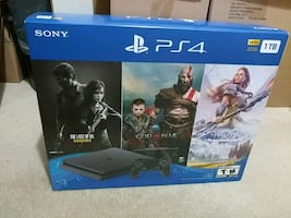 New, Sealed - Sony PlayStation 4 Slim PS4 1TB Bundle with 3 Games