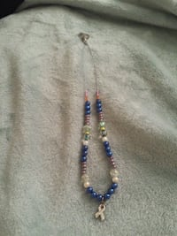 blue and silver beaded necklace Madison, 53717