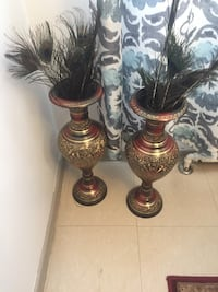 Two gold-and-brown floor vases Toronto, M9V 3M8