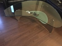 Glass living table with lower frosted glass and matching side table inc t Mississauga, L5N 6Y1
