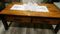 rectangular brown wooden coffee table 539 km