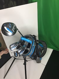 black and blue golf bag with golf clubs Las Vegas, 89129