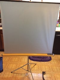 White projector canvas Knox panorama McHenry, 60051