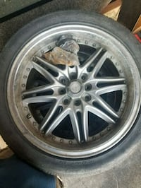 chrome multi-spoke car wheel with tire Hagerstown, 21740