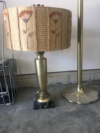 Brass and white table lamp 20 mi