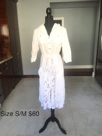 White cover up dress size S/M