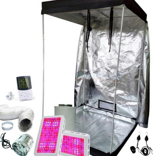 NEW 4x4 Kit  All metal frame Grow tent with everything you need +more