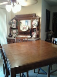 SOLID OAK COUNTER HEIGHT TABLE W/ 6 CHAIRS Topeka, 66617