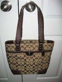 COACH Signature Brown Handbag Purse