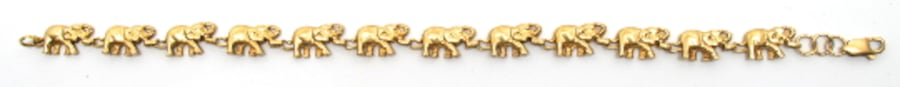 Ladies 14K Elephant Bracelet