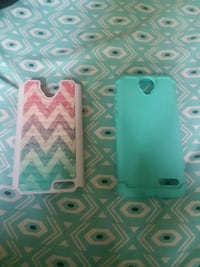 teal and pink iPhone case Trinity, 75862