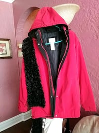 red and black zip-up jacket Chicago, 60641