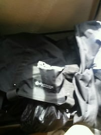black and gray camouflage jacket
