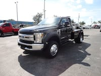 2019 Ford F450 $72,500 XLT JERR-DAN MPL-NGS WRECKER TOW TRUCK. 4X2 Condition New Title Engine 6.7L 8 Cylinder Transmission Automatic Drivetrain Rear Wheel Drive Exterior Color Black Interior Gray Stock # J17646     Full Factory Warranty FORD F450XLT.. . 4 Boca Raton