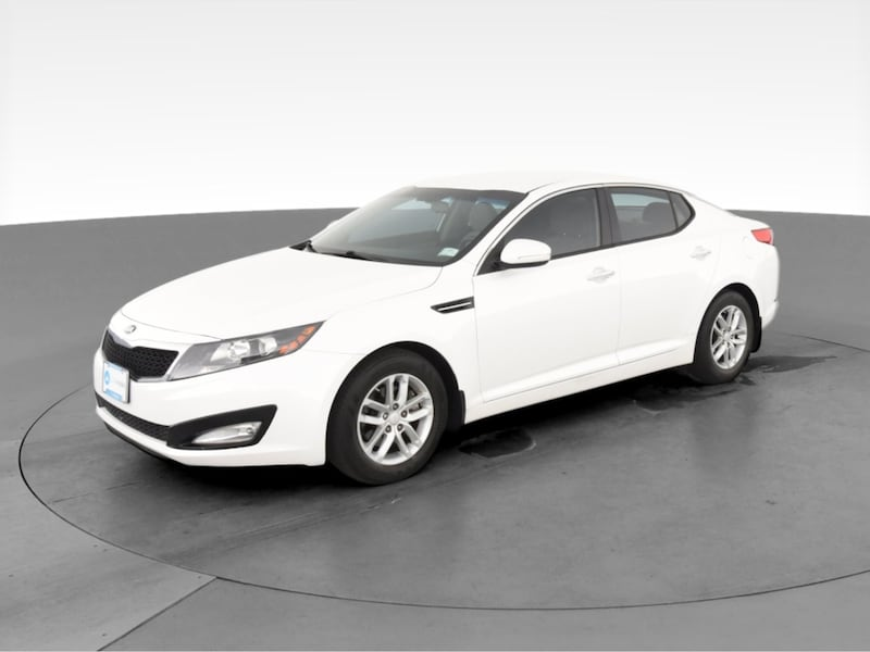 2013 Kia Optima sedan LX Sedan 4D White  2