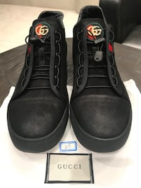 pair of black Gucci lace-up shoes Toronto, M5P 3J6