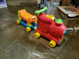 Vtech ride on a train toy