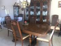 Dining Table and Hutch & chairs
