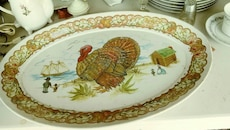 Oval turkey plate